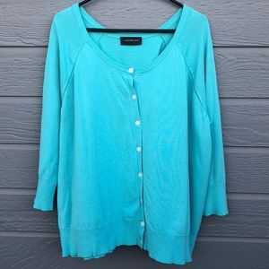 Lane Bryant women's 2X turquoise sweater c…